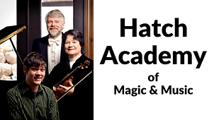 Buttom for the Hatch Academy of Magic and Music.  Take private magic or violin lessons. Click to go to their website.