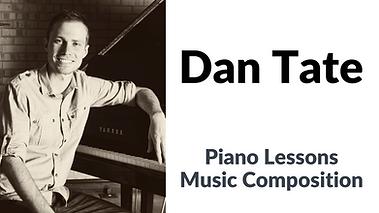 Dan Tate private piano or composition lessons