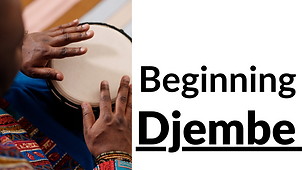 Buttom for Beginning Djembe classes.  Click to find more information about this program.