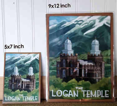 Logan Temple Travel Poster