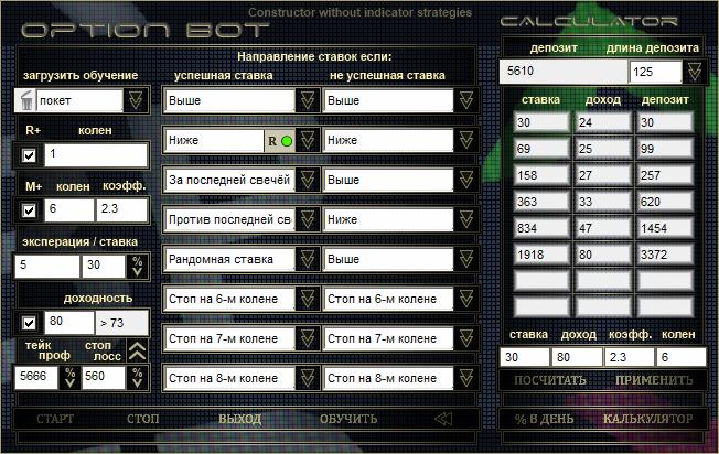 OptionBot Constructor конструктор без ин