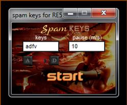 spam keys for Resident Evil 5.png