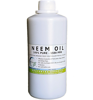 Organic Neem Oil Concentrate, 1500 PPM for Plants and Gardening
