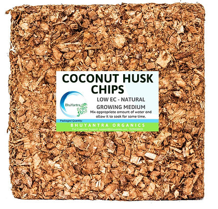 Coconut Coco Husk Chips Block for Plants and Orchids (Low EC 5 Kg)