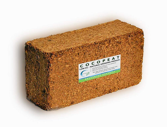 Cocopeat Block 650 g Expands Upto 10 L of Coco peat Powder