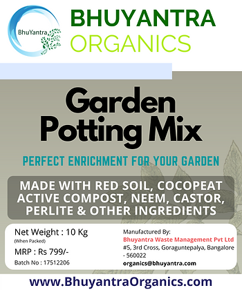 Bhuyantra Organics Garden Potting Soil Mix - UGS