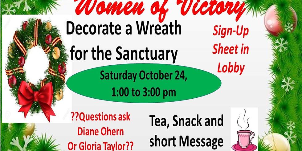 WOV Wreath Decorating Project, Oct 24, 1:00 - 3:00 pm