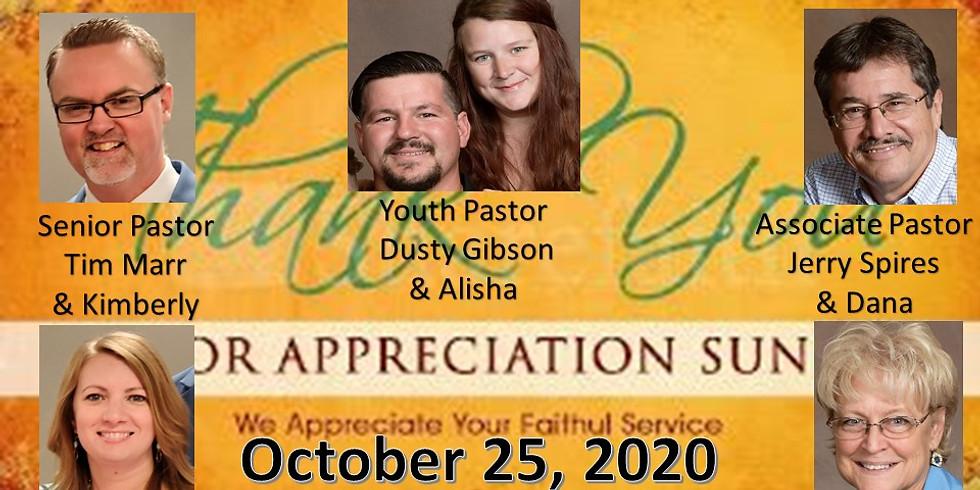 Pastor Appreciation Oct 25, 2020