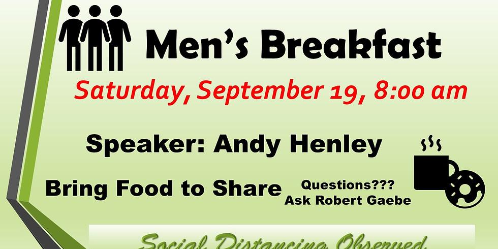 Men's Breakfast, Sep 19