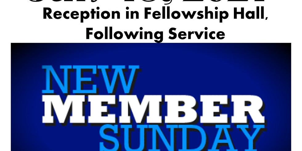 New Member Sunday