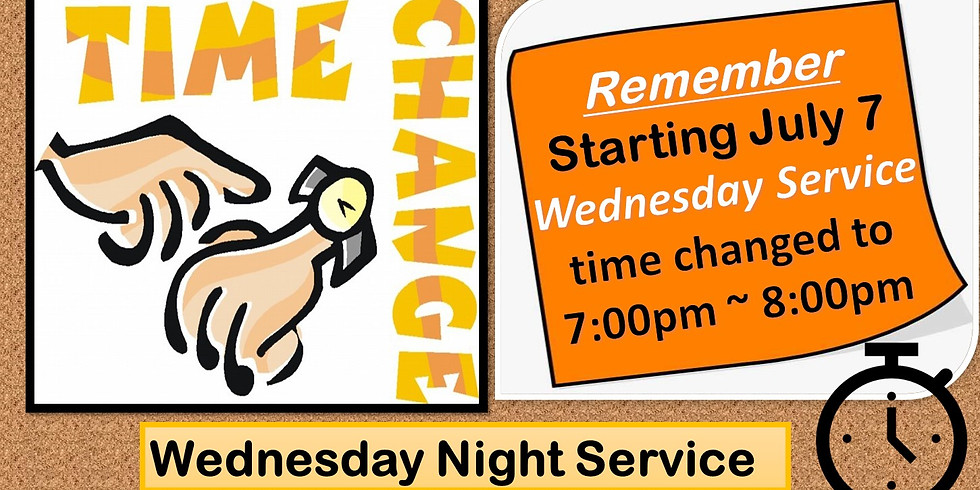 Wednesday Service Time Change