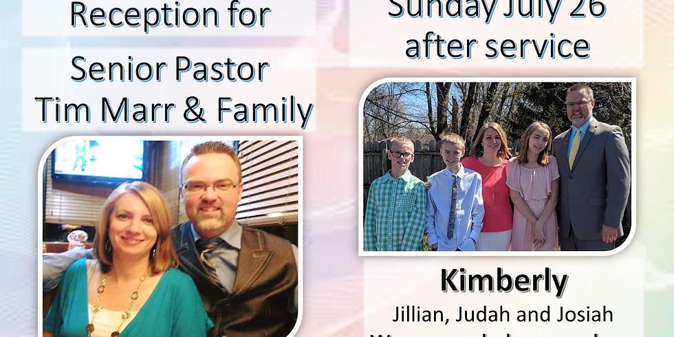 Reception Pastor Tim & Family