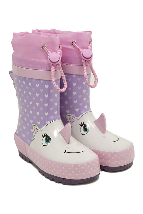 Rain boot unicorno