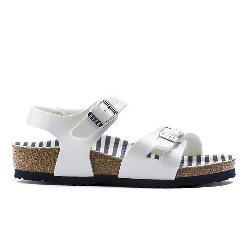 Birkenstock Rio nautical stripes white