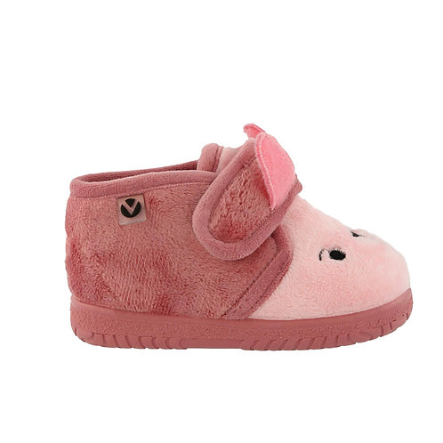 Pantofola coniglio rosa