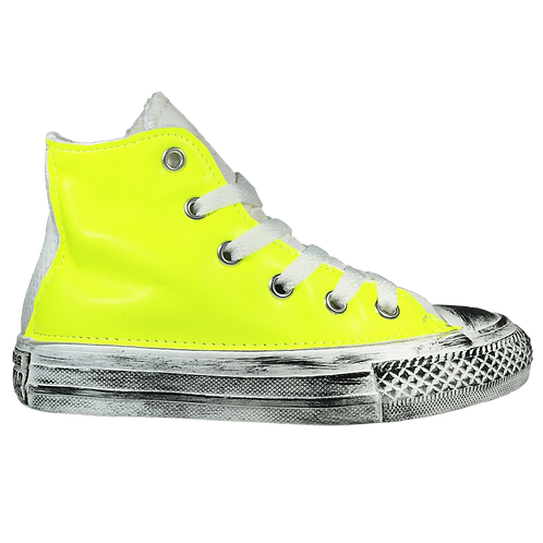 All Star alta giallo fluo