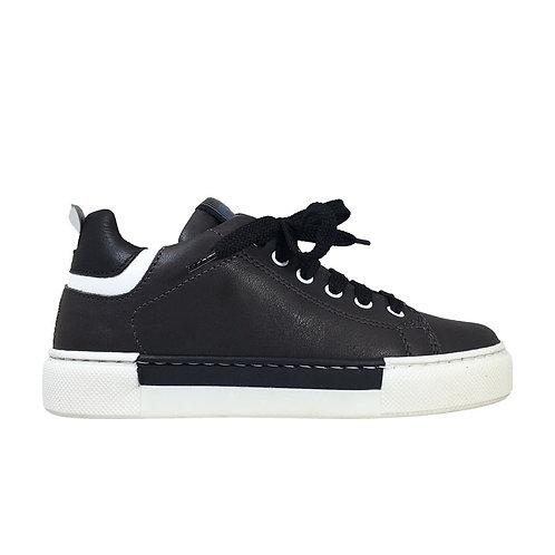 Sneakers in pelle con zip