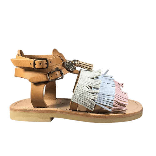 Sandalo mare con frange