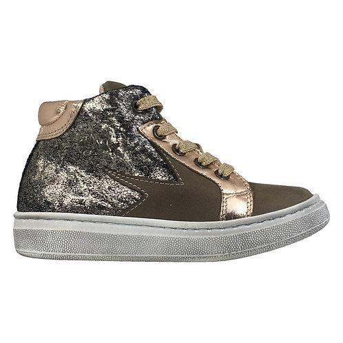 Sneakers laccio e zip laterale