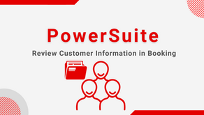 Tips - Review Customer Profile during Booking Operations