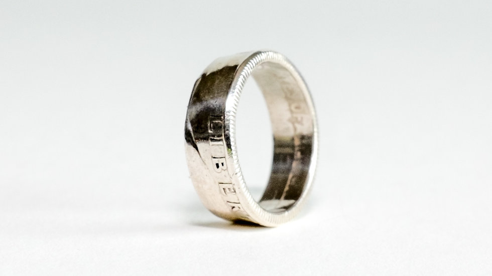 Silver Quarter Ring