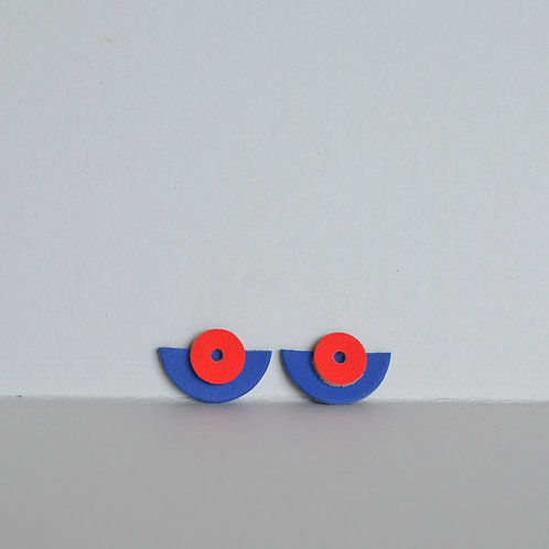 WHOLESALE Small Play Earrings in Red + Blue