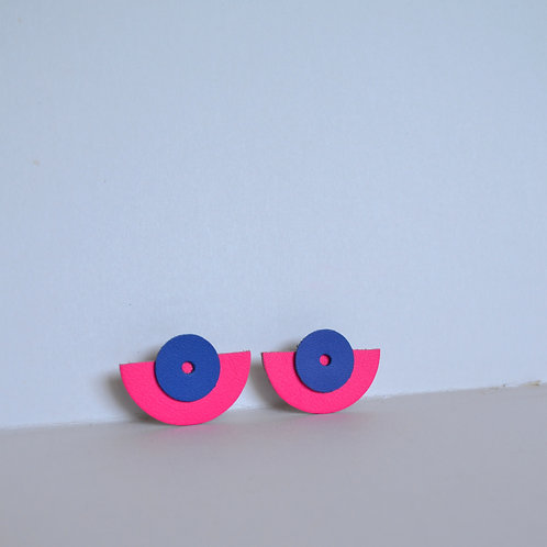 WHOLESALE Large Play Earrings in Pink+ Blue