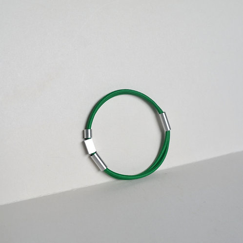 WHOLESALE Tubular Green Bracelet