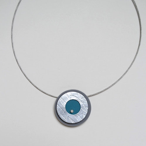 Play Pendant in Teal Blue