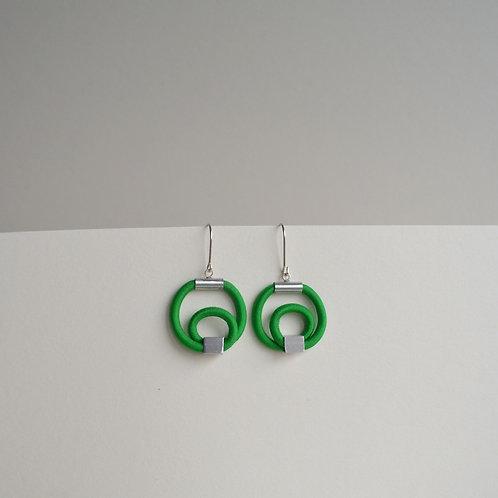 Fresh Green Hoop Earrings