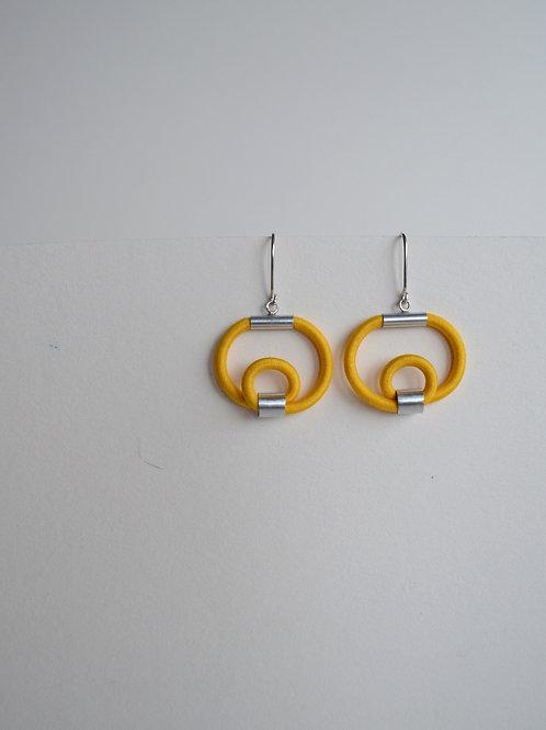 Golden Yellow Hoop Earrings