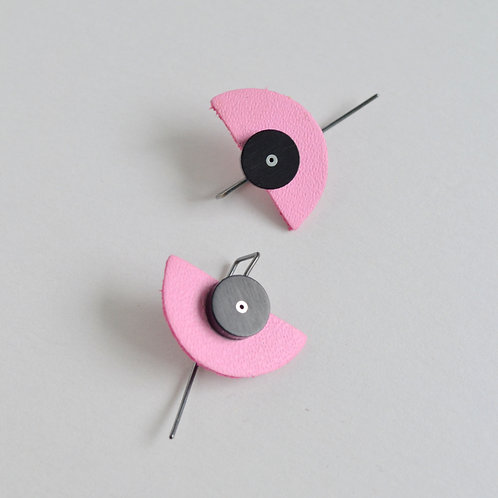 Play Earrings in Pink + Black