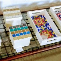 Bandeja com azulejo