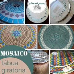 Tabua giratória com mosaico