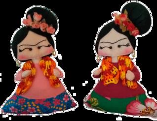 Boneca e almofada Frida Kahlo