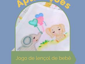 Jogo de lençol com aplicação