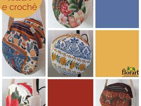 Bolsas feitas com retalhos FARM e crochê