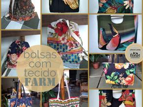 Bolsas com tecido FARM