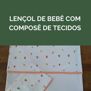 Jogo de lençol infantil com composê de tecidos