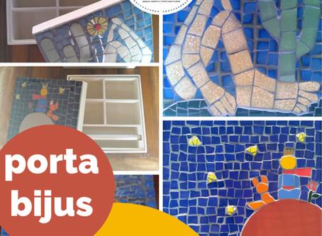 Porta-bijus com mosaico