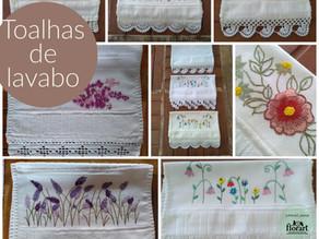 Toalha de lavabo floral