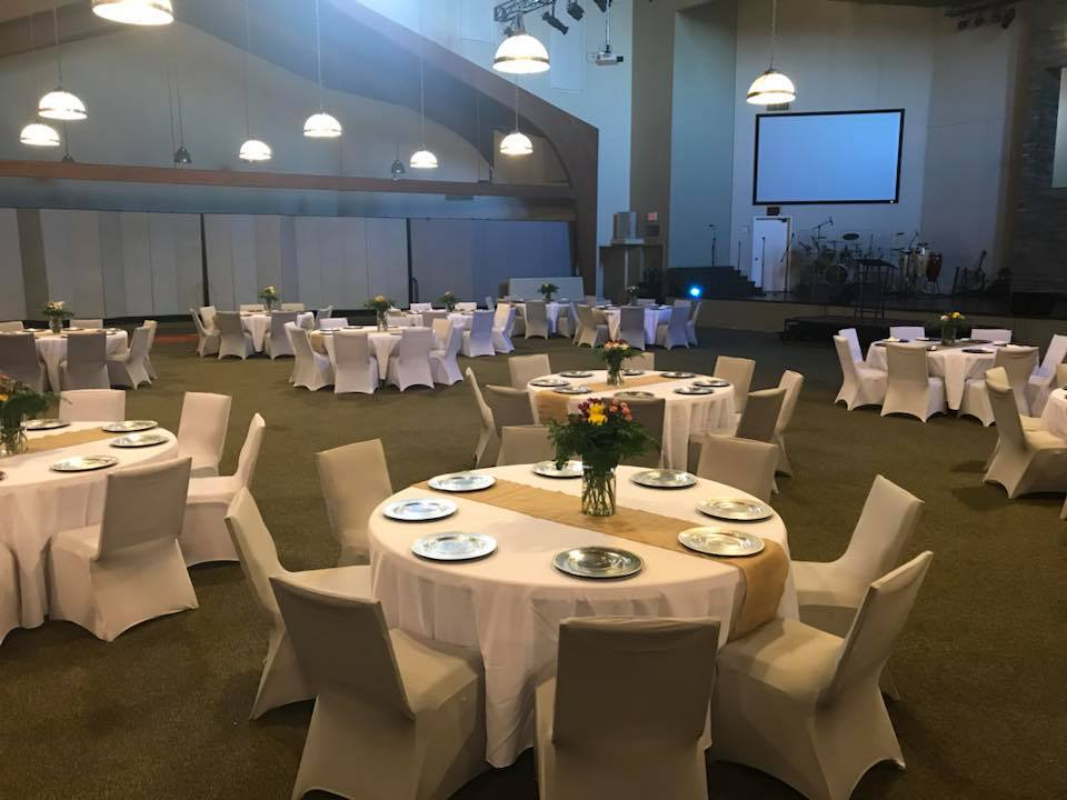 Set Up Before the Gala