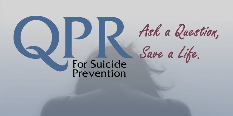 QPR Training - Ask A Question, Save A Life.