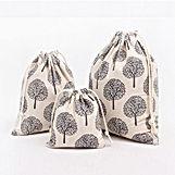 Handmade-Drawstring-Bag-5pcs-Black-Tree-