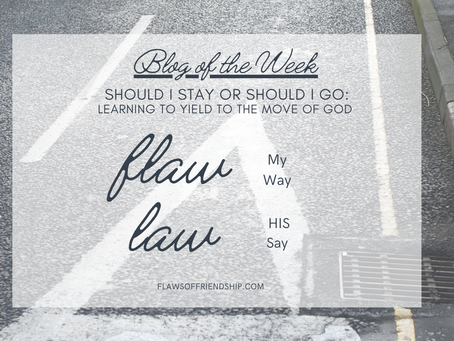 Should I Stay or Should I Go: Learning to Yield to the Move of God