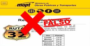 #EsFalso: No hay restricción para vehículos particulares en la ruta 32.