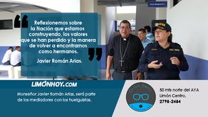 Obispo de Limón destaca como mediador de Iglesia Católica en diálogo con huelguistas.