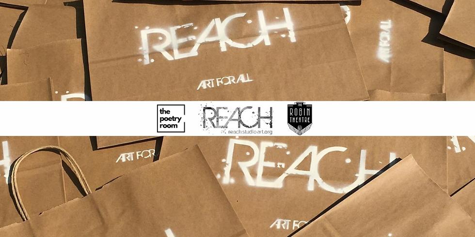 """The Poetry Room X REACH Studio Art Center: """"Sending Love"""""""