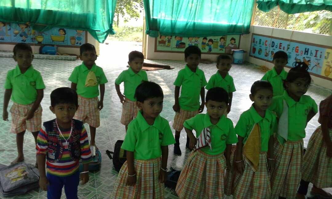 English School kids