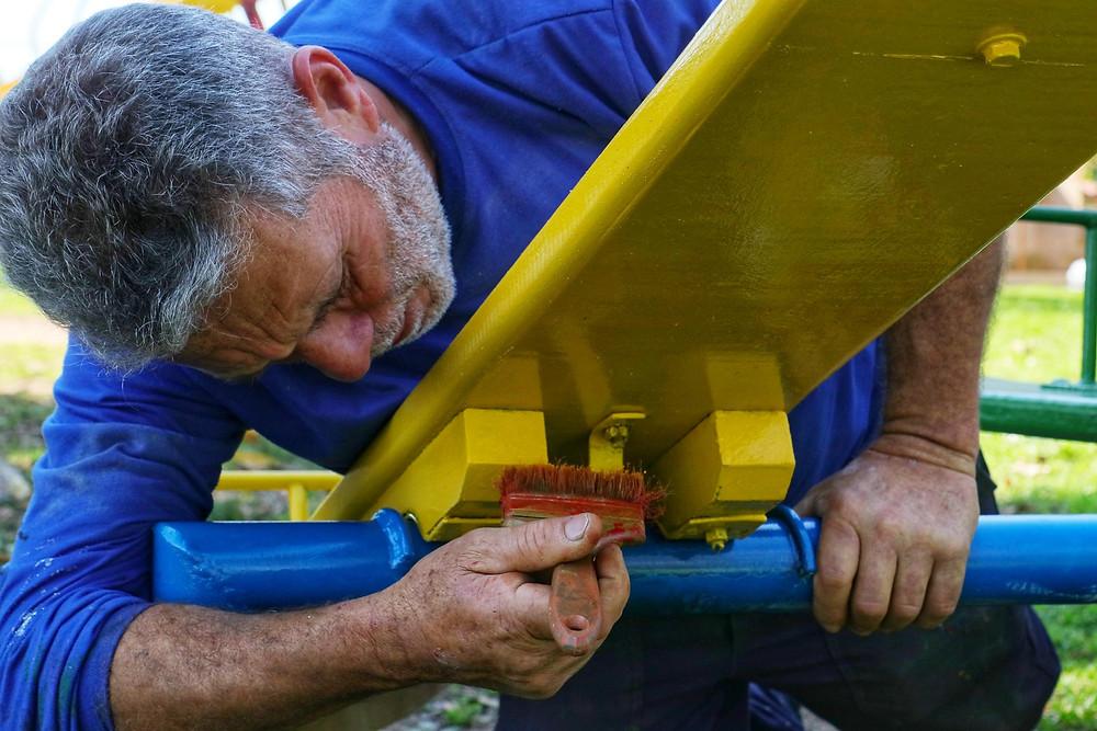 A obra na praça João Faccio custará cercar de R$ 167.000,00 | Foto: Alex Rocha (PMPA)